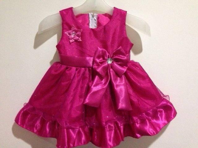 Jual Gaun Pesta Bayi Perempuan Warna Pink Fanta New Model Kota