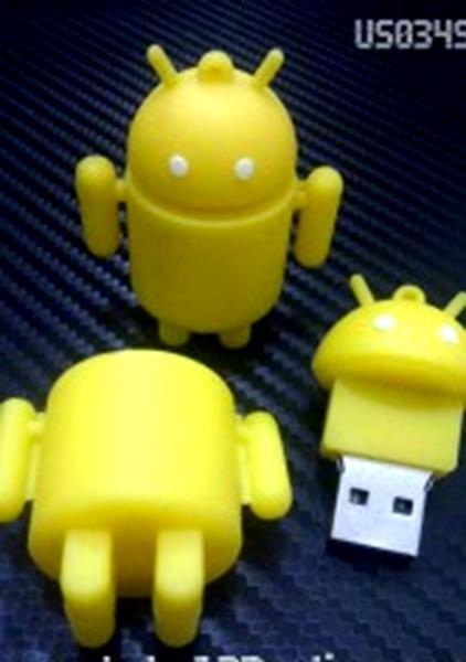 harga 2465 usb flashdisk unik boneka karakter lucu android kuning - bus0349 Tokopedia.com