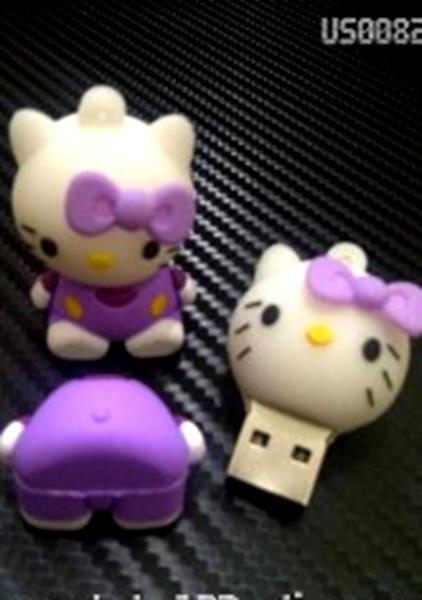 harga 2440 usb flashdisk unik boneka karakter lucu hello kitty ungu - bus008 Tokopedia.com