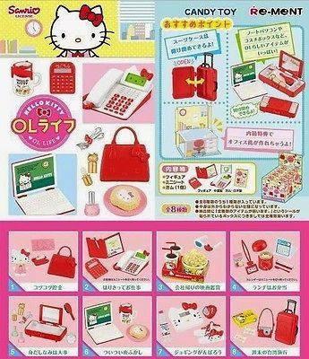 harga Re-ment miniature hello kitty office lady ol life stationery set Tokopedia.com