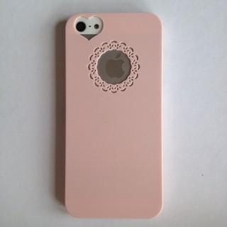 ... harga Iphone 5 5s pink love heart hard case casing cover pastel Tokopedia com