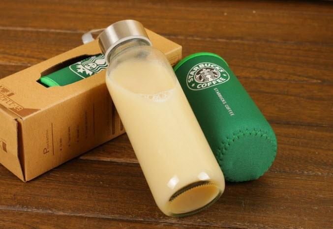 harga 500ml botol glass+sarung starbucks asi kaca juice jeruk teh susu bayi Tokopedia.com