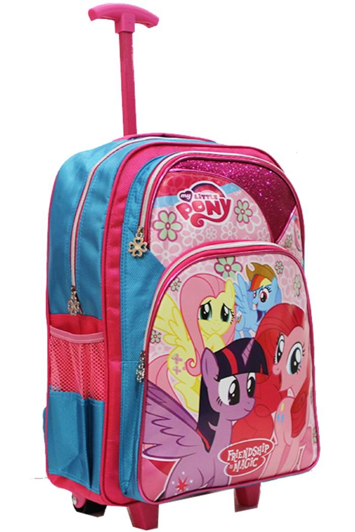 Tas Trolley Anak Sekolah SD Karakter Little Pony Gliter-Ukuran Besar