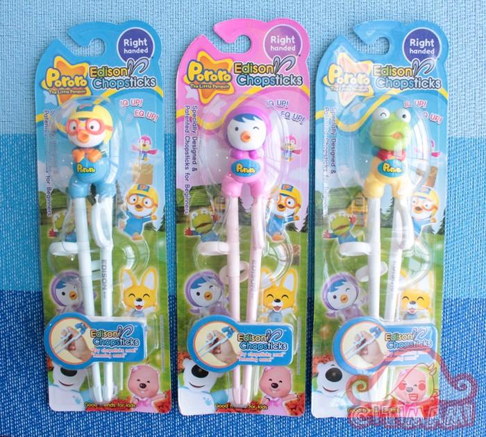 harga Edison pororo chopsticks - sumpit latihan makan anak ready stock Tokopedia.com