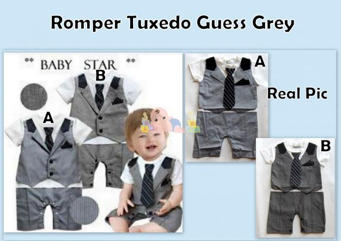 harga Romper tuxedo guess grey Tokopedia.com
