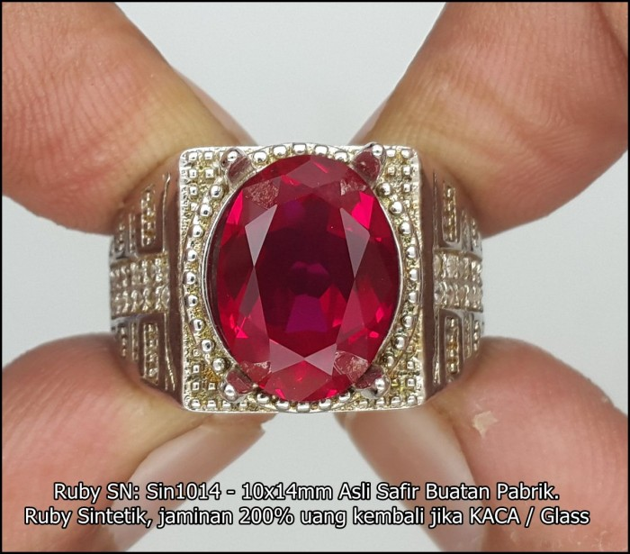 harga Ruby sn: sin1014 - 10x14mm asli ruby buatan pabrik Tokopedia.com