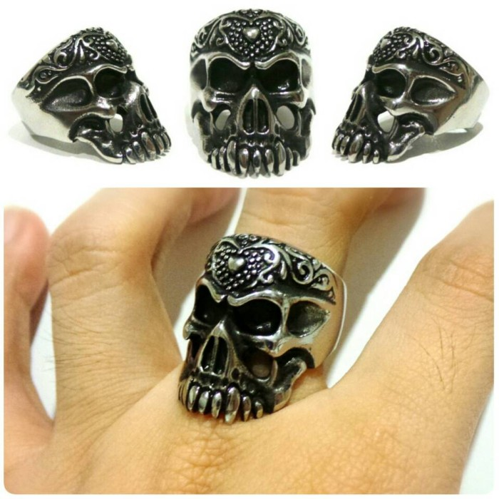 harga Skull ring titanium - cincin tengkorak murah - guardian Tokopedia.com