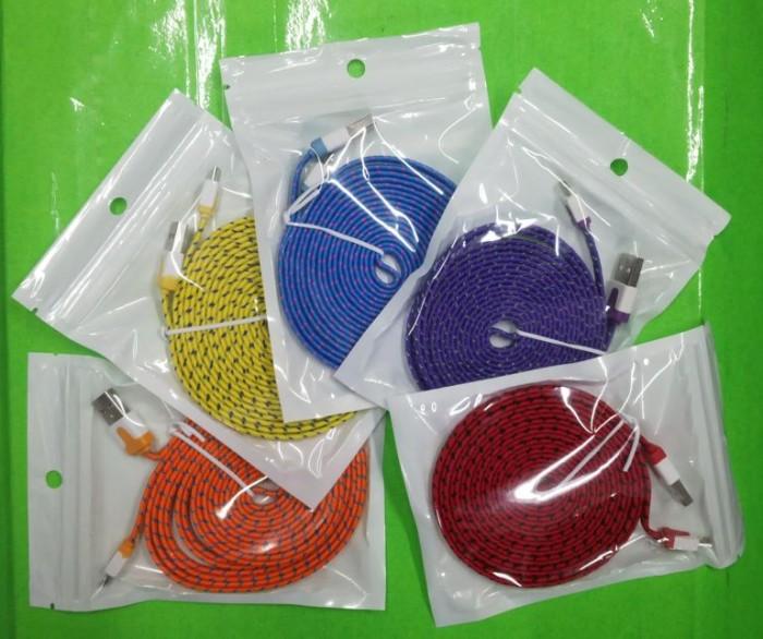 harga Cmuv35 cable microusb flat tali sepatu 3m Tokopedia.com