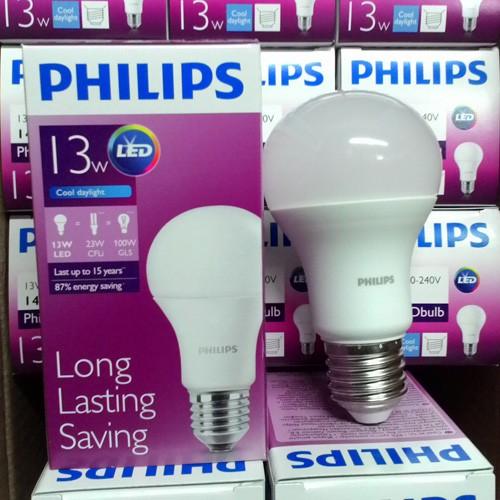 Jual Bohlam Lampu  Philips  LED  Bulb 13 Watt  Putih