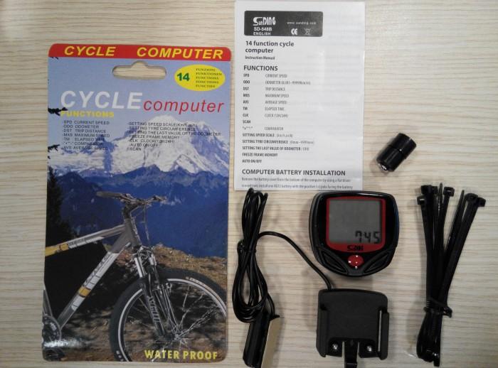 harga Spedometer sepeda kabel 14 fungsi murah Tokopedia.com