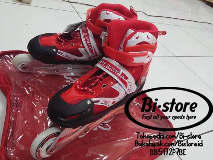 Sepatu Roda Inline Power Skate Merah RED SUPERB Size S M L harga Murah 1127eb3f5f