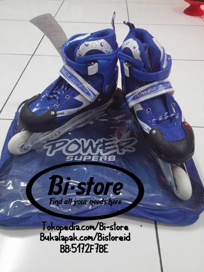 harga Sepatu roda inline power skate blue biru superb size s m l harga murah Tokopedia.com