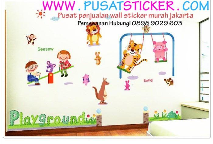 jual jual wall sticker playground anak murah jakarta - toko wall