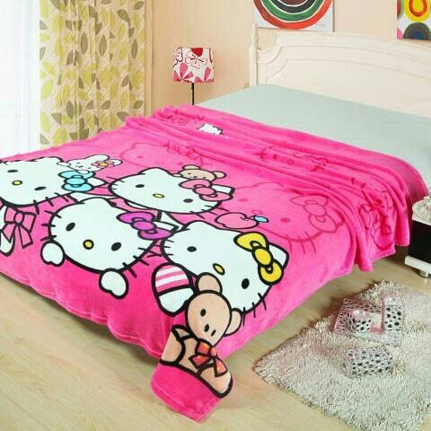 Kelebihan Selimut Bulu Anak Anak 150x200 Club Barcellona Barca Source · Selimut Bulu Import Hello Kitty Family Spesial Buat Anak