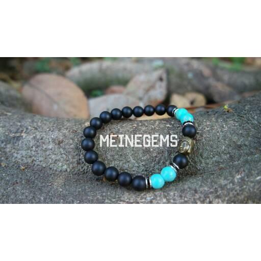 harga Gelang batu alam matte onyx + turquoise Tokopedia.com