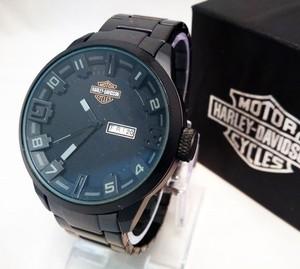 Jual Jam Tangan Pria   Cowok Harley Davidson   HD Rantai Black ... b6d4d98a20