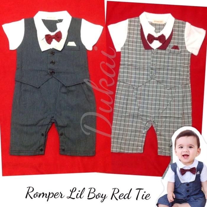 harga Tuxedo romper garis baby boy bayi 4-18month Tokopedia.com