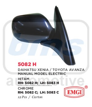 harga Spion emgi xenia / avanza 2004-2012 hitam manual model elektrik lh Tokopedia.com