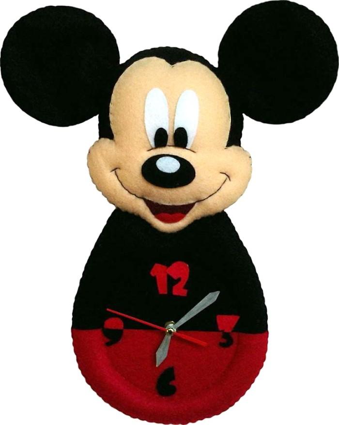Jual Kado Unik Jam Dinding Flanel Karakter Kartun Mickey Mouse Murah ... 423408c200