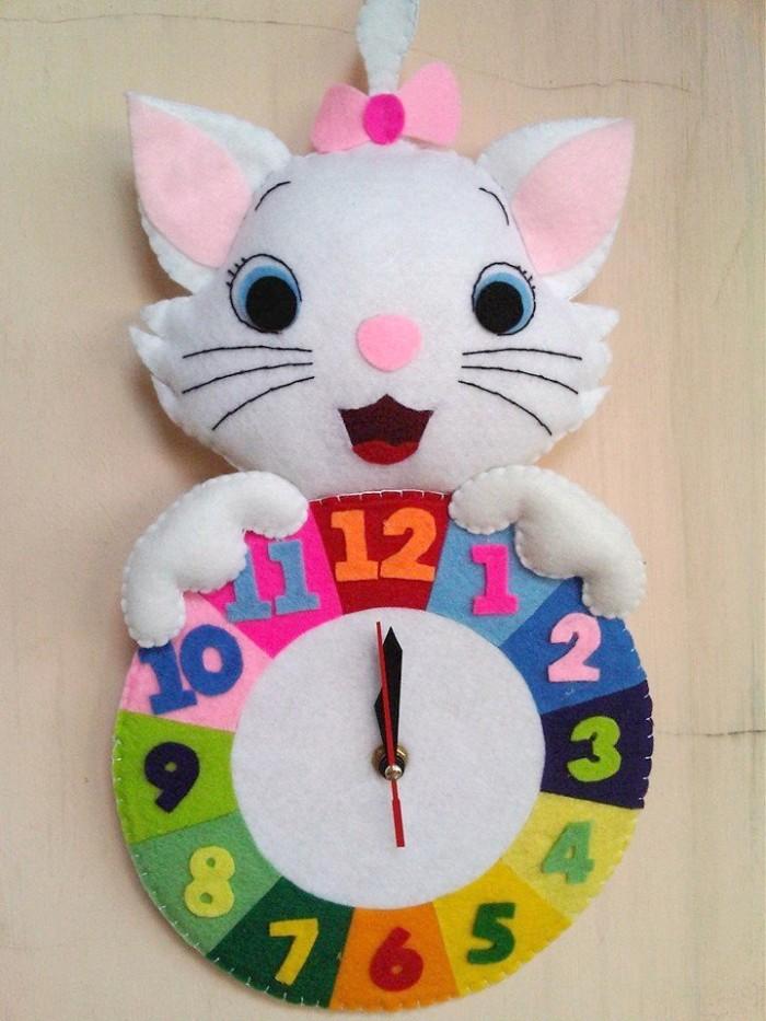 Jual Kado Unik Lucu Jam Dinding Flanel Karakter Kartun Kucing Murah ... 2d292988e0