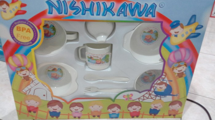 harga Nishikawa feeding set (2 cangkir,3 mangkok ,garpu dan sendok) Tokopedia.com