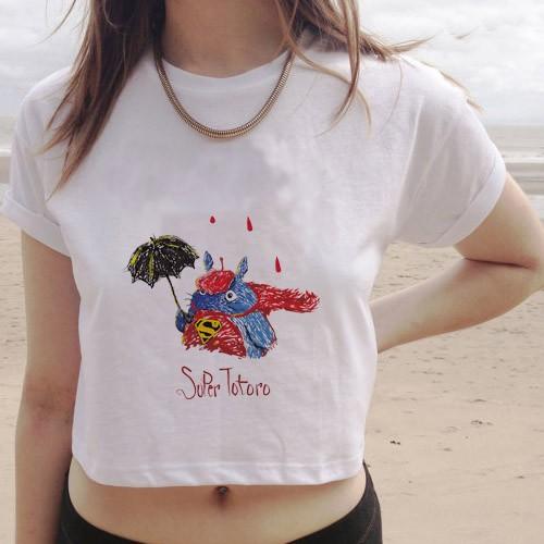 kaos croptee super totoro gaul tshirt distro custom clothing tees