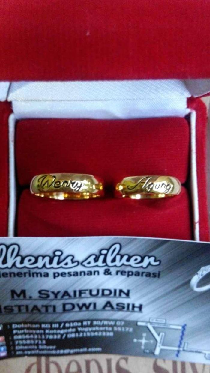 Jual Cincin Kawin Nikah Tunangan Pasangan Couple No14 Kota Yogyakarta Dhenis Silver4