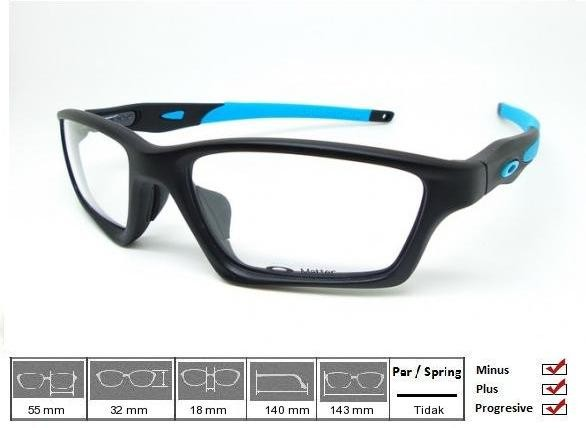 Jual Kacamata Original Frame Oakley Crosslink Sweep Satin Black Blue ... cacc9d025b