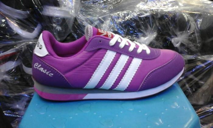 Jual sepatu adidas neo clasik murah warna ungu lis putih + box - DKI ... 2c85914bc
