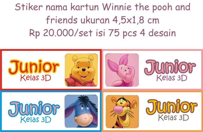 Stiker Nama Anak Dewasa Lucu Murah Winnie The Pooh Kartun Disney