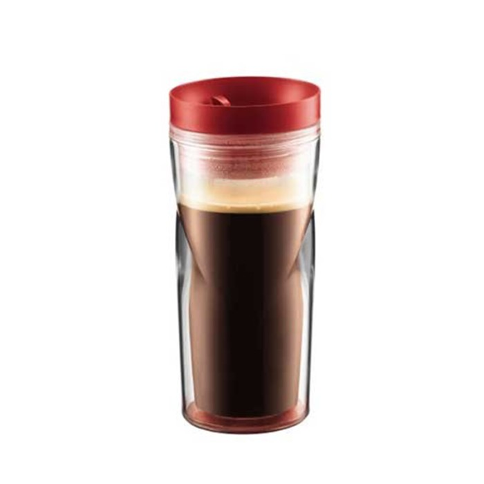 Bodum travel mug glass red 350ml (11041-294)