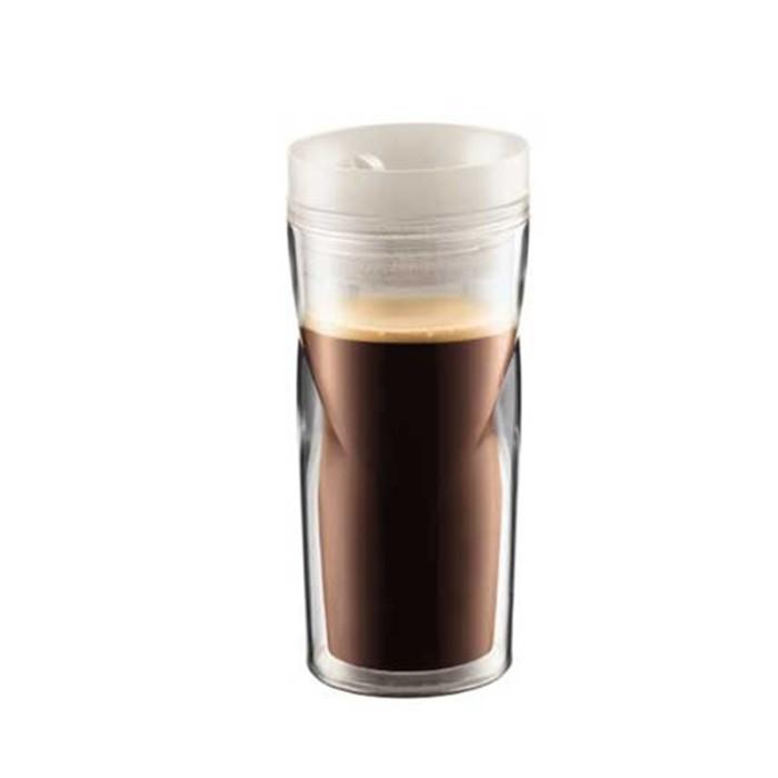 ... harga Bodum travel mug glass white 350ml (11041-913) Tokopedia.com