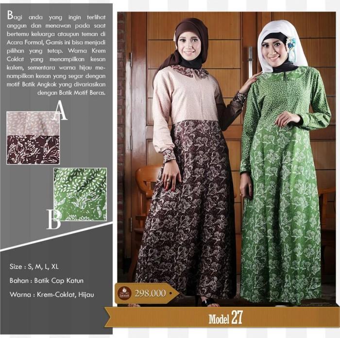 Jual Larasati Gamis Batik Baju Muslim Batik Hijab Modern Dress Batik