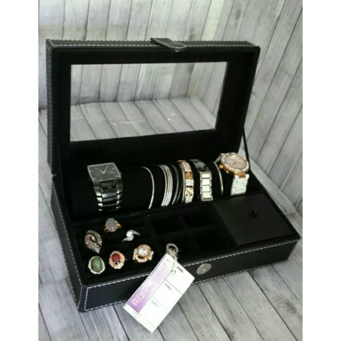 harga Jewelry case / kotak perhiasan vinyl / box asesoris Tokopedia.com