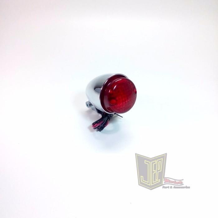 harga Stoplamp japstyle kerucut krom mini import dengan dudukan Tokopedia.com
