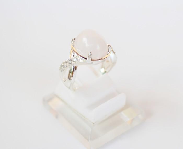 harga Cincin batu kecubung es ( putih ) amethys perak silver malaysia Tokopedia.com