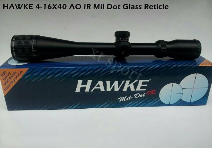 Jual teleskop teropong senapan angin hawke 4 16x40 ao ir riflescope