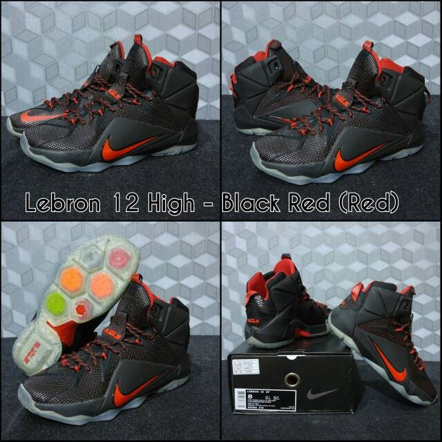 58276137cc6 ... closeout sepatu basket nike lebron 12 black red red f008d 4e876