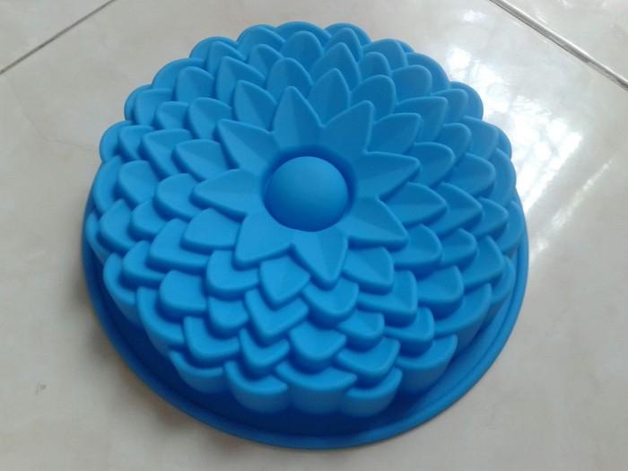 Cetakan silikon puding/ kue lotus