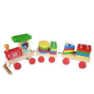 Foto Produk Kereta Geo, mainan edukatif edukasi kayu anak SNI aman Murah dari Edukasi Toys