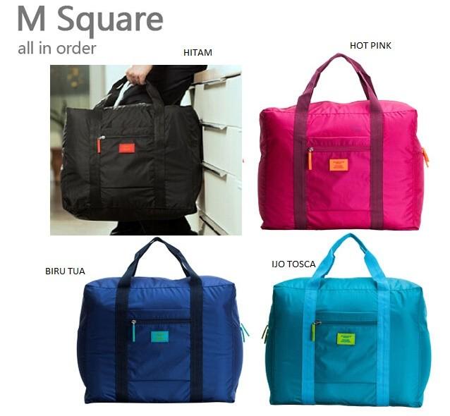 Jual Korean Travel Square Bag (extra besar 893651f4551c1