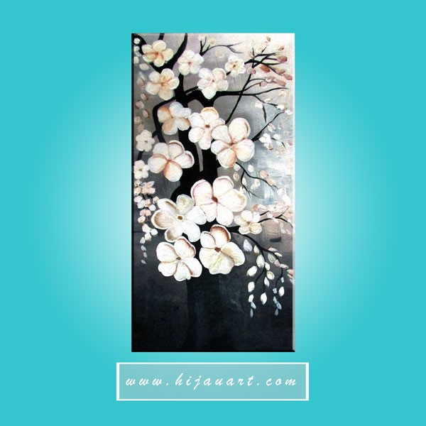 harga Bv103 - lukisan bunga sakura putih Tokopedia.com
