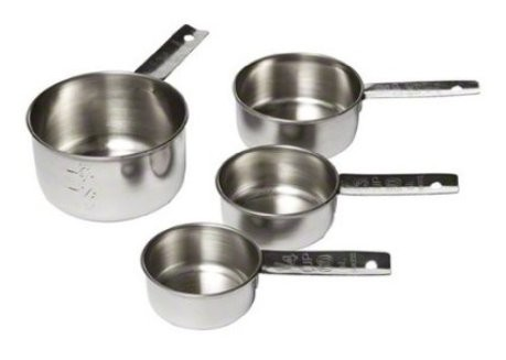 Foto Produk MEASURING CUP, Stainless Steel, 4 Pcs, Solid Handle, Gelas Ukur Gagang dari eBrownies Indonesia