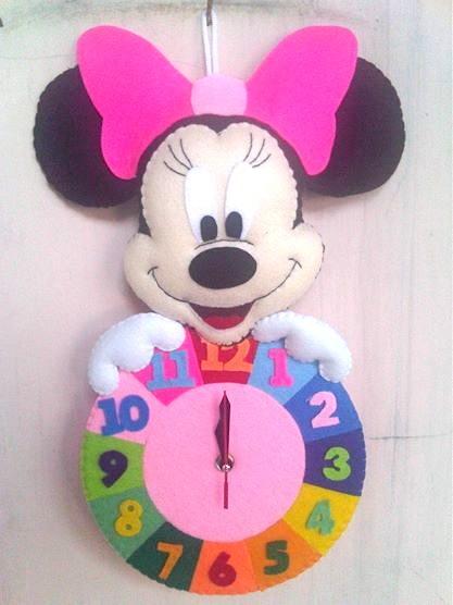 Jual Kado Unik Lucu Jam Dinding Flanel Karakter Mickey Mouse Murah ... 4dec133d5f