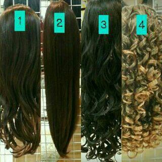 harga Half wig panjang 80cm rambut palsu long hitam coklat lurus curly wave Tokopedia.com