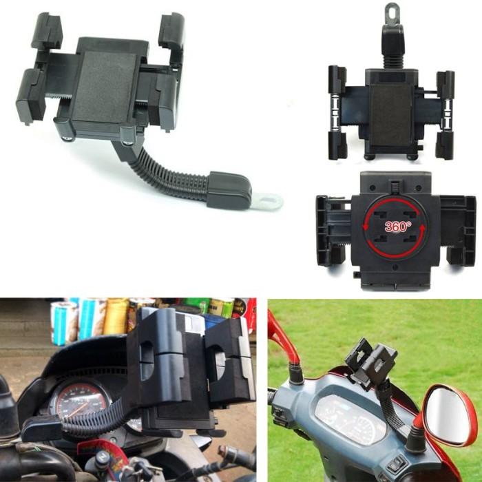 harga Holder spion stand bracket handphone dan gps untuk semua sepeda motor Tokopedia.com