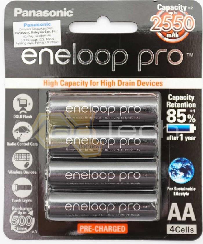 harga Baterai panasonic eneloop pro aa 2550 mah 12v cas ulang rechargeable Tokopedia.com