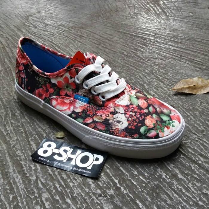 6fdeb152f1 Jual Sepatu Vans Authentic multi floral   Oldskool - 8SHOPgallery ...