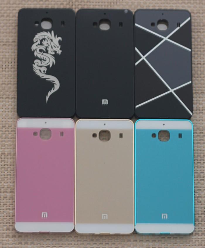 Xiaomi redmi 2 bumper alum + casing belakang mikaset model iphone 5