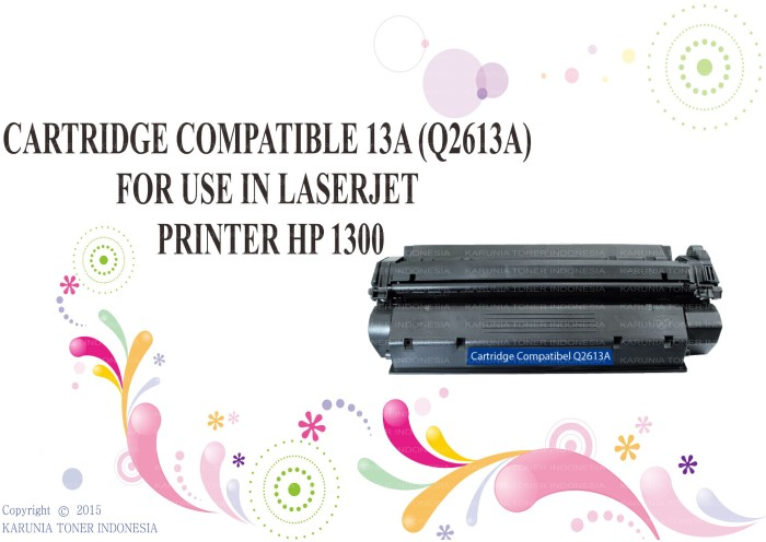 harga Cartridge compatible 13a (q2613a) for use in laserjet printer hp 1300 Tokopedia.com